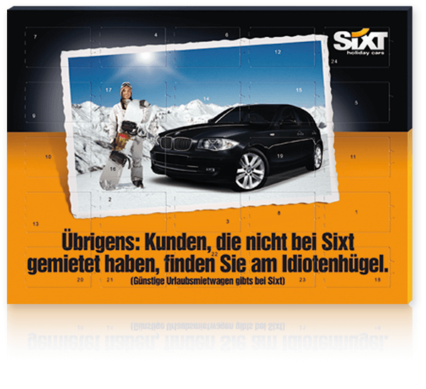 "Die Tisch-Adventskalender ""Select Edition SIXT"""