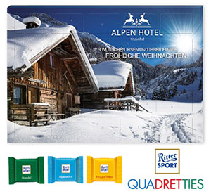 Werbe-Adventskalender mit Ritter SPORT-Quadretties