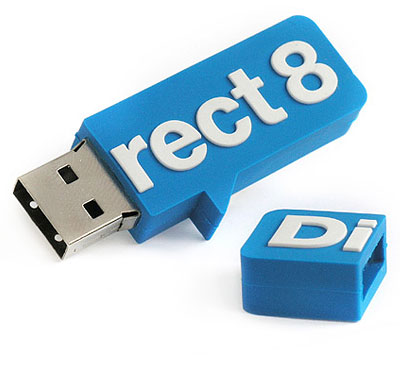 "Der USB-Stick ""2d"" in individueller Form"